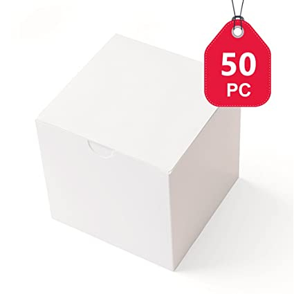 Mesha cajas de regalo 50 unidades, 3 x 3 x 3 cm, papel de
