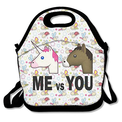 BjlkMLMLM You Horse Me Unicorn Lunch Bag Large Reusable Lunch Tote Bags Women Teens Girls Kids Baby Adults Lunch Box Work Office School Gym