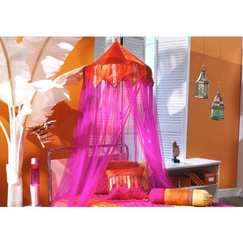 Tangerine Orange & Fuschia Bed Canopy 96