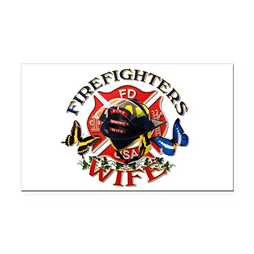 Rectangle Car Magnet Firefighters Wife ()