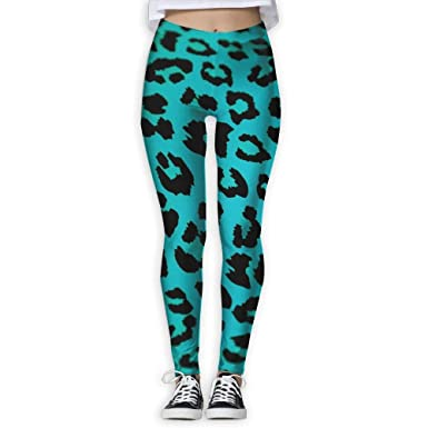 b8c3c15ccbb3f Amazon.com: Green Leopard Print Animal Provide Women with High-Waisted,  Ultra Soft Lightweight Gym Yoga Leggings: Clothing