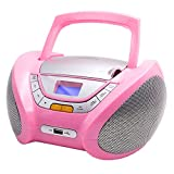 Lauson Boombox with Cd Player Mp3 | Portable Radio CD-Player Stereo with USB | USB & MP3 Player | Headphone Jack (3.5mm) CP548 (Pink)