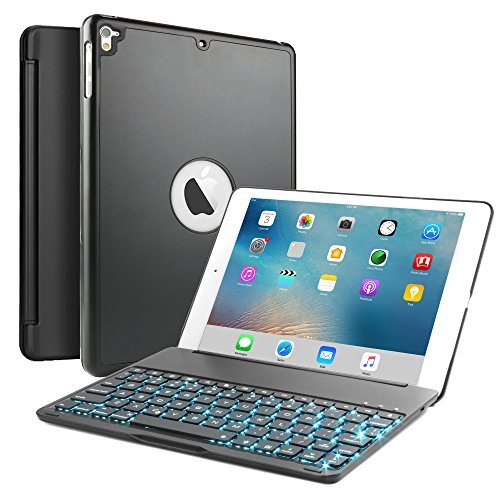 iPad Air 2/iPad Pro 9.7 Keyboard Case, Boriyuan Aluminum 7 C