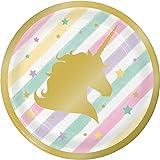 Creative Converting Unicorn Sparkle Paper Dessert Plates (24 Count)