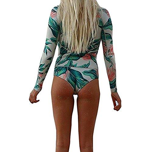 Allouli 2017 Europa Traje de baño de impresión de la mujer traje de baño de traje de baño del traje de baño del bikiní de la playa que se baña para el verano Green1