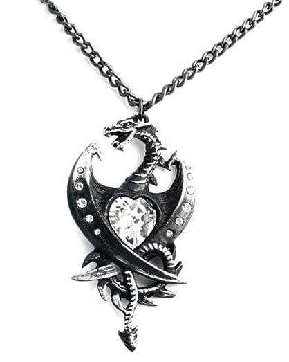 Alchemy Gothic Diamond Heart Pendant eX7zmiU