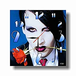 FBA Marilyn Manson 11.4'' Handmade Wall Clock - Get Unique décor for Home or Office - Best Gift Ideas for Kids, Friends, Parents and Your Soul Mates.