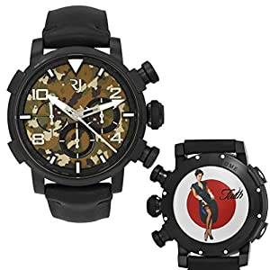Romain Jerome Pinup DNA WWII Faith Garter Chrono Auto Men Watch RJ.P.CH.002.01