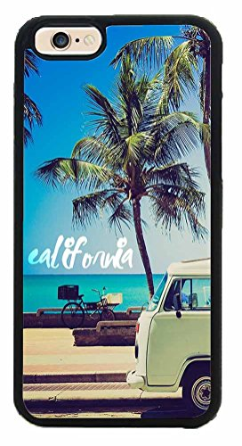 Palm Trees and California Dreaming Phone Case Back Cover (IPhone 6 (4.7 inches) TPU Rubber Silicone)
