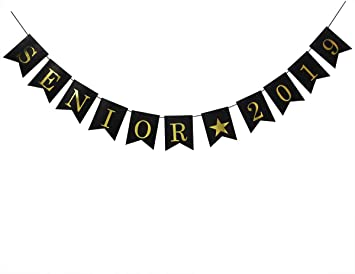 Class of 2019 Banner Congrats Grad Bunting Sign 2019 Graduation Party Decorations