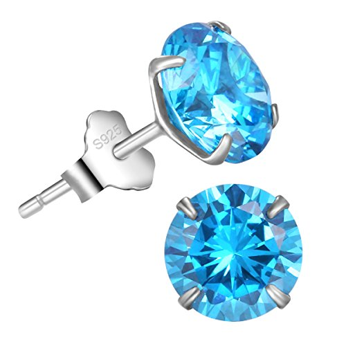 BellaVida-Womens-Sterling-Silver-Simulated-Cubic-Zirconia-Stud-Earrings-25cttw