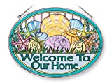 Amia 41241 Seashell Welcome to Our Home 9 by 6-1/2-Inch Oval Sun Catcher, Large