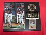 Braves Greg Maddux Steve Avery Tom Glavine John Smoltz Collectors Clock Plaque w/8x10 Photo and Card