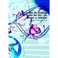 Cahier de Musique 48 pages 21x 29,7 cm Seyes & Portees: Interieur Seyes Grands Carreaux et Portees de Musique - Couverture Brillante Design 7