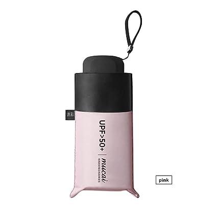 Somedays Mini Paraguas de Viaje Resistente al Viento UV Plegable Compacto Paraguas portátil Ligero Sol y