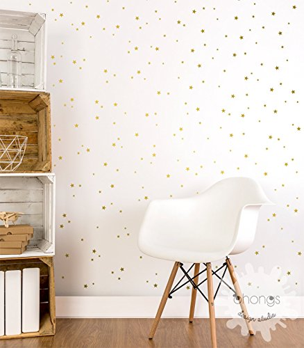 A Gold Star in the room / Star wall decal / Mini Size Star Pack / 3 ...