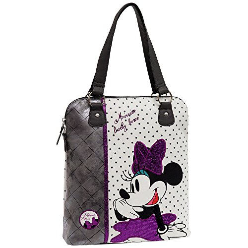 Disney 3086351 Minnie Bows Borsa Messenger, Litri 9.97, Bianco