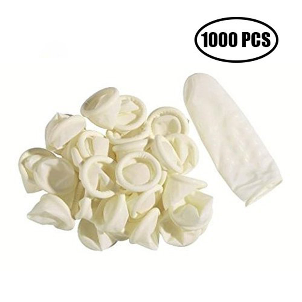 SAIANKEFinger Cot 1000 PCS Latex Anti-Static Finger Covers Finger Tip Rubber Protect Keeping Dressing Dry and Clean by SAIANKE (Image #1)