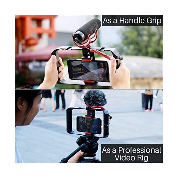 ULANZI u-rig Pro smartphone video Rig palmare iPhone Filmmaking gabbia con 3 Cold Shoe Mount Phone video stabilizzatore per video proiettore Videomaker per iphone 11 pro max x 8 7 Plus Samsung Xiaomi 3 spesavip