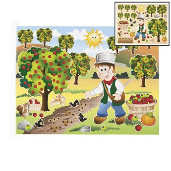 Johnny Appleseed Make-A-Sticker Scenes - Stationery & Stickers