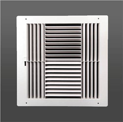Plastic Side Wall Register (Four-way plastic register side wall/ceiling air register with multi-shutter damper in white (6