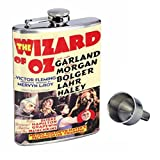 Wizard Of Oz 1939 Judy Garland Perfection In Style 8oz Stainless Steel Whiskey Flask with Free Funnel D-494