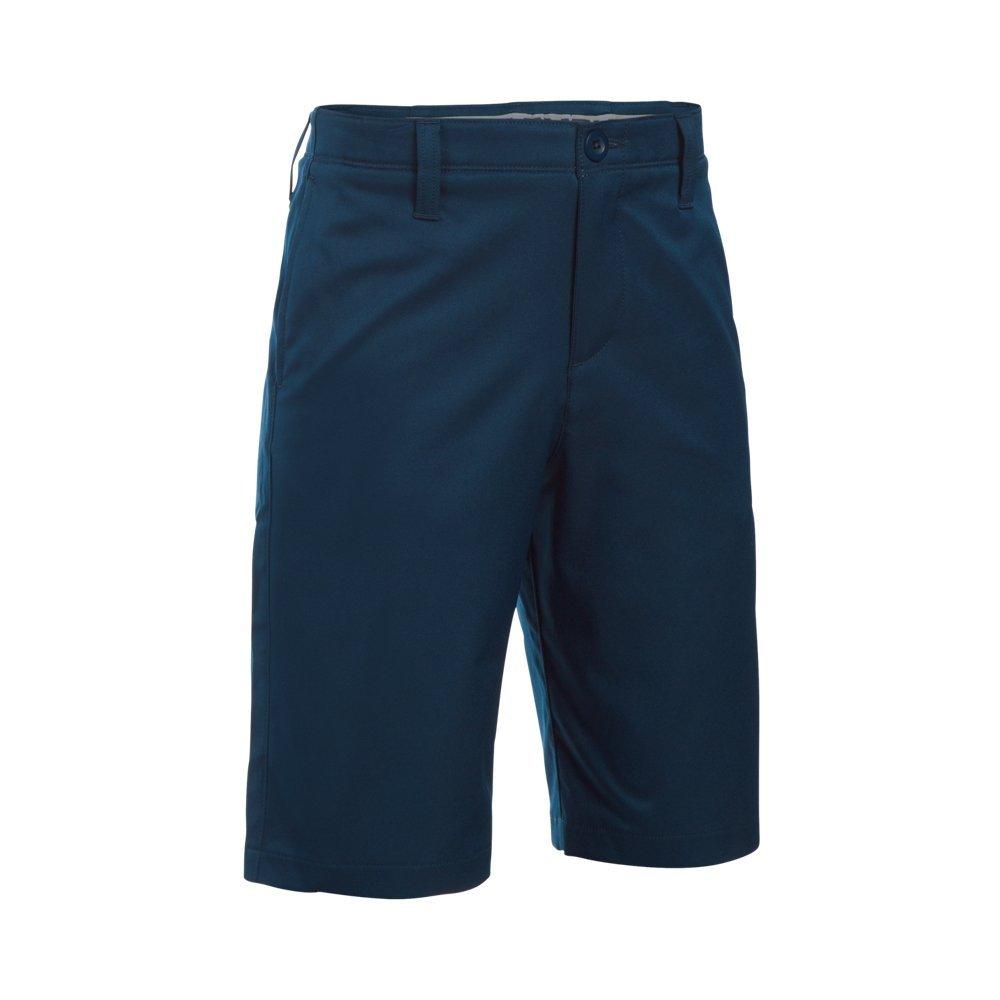 Under Armour Boys' Match Play Polo Shorts, Academy/Academy,10 by Under Armour