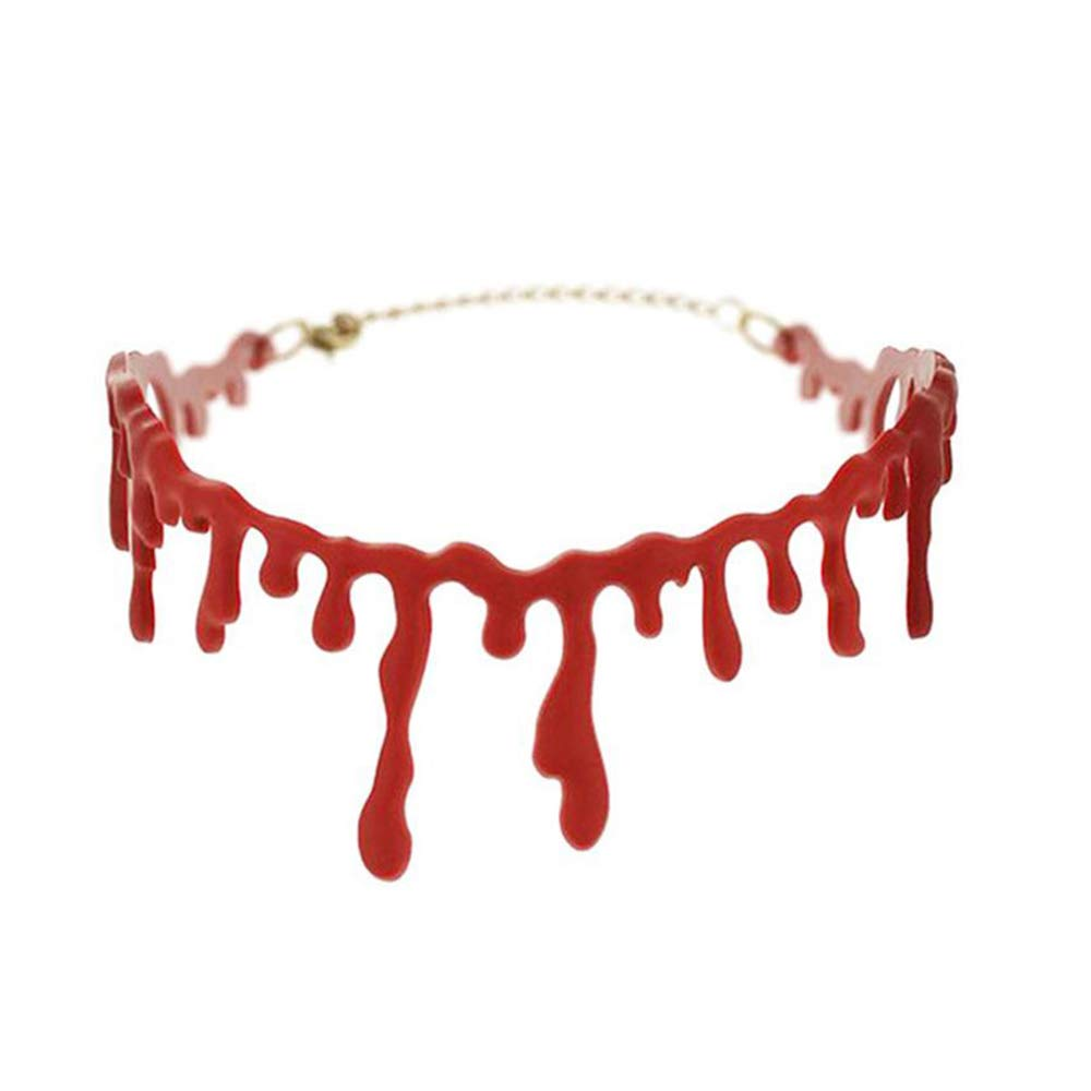 Blood Drip Choker Jewellery for Halloween Decoration Fancy Dress Accessory
