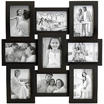 Amazon.com: Melannco 9-Opening Flat and Curved Collage Frame, 18 ...