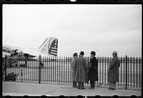 Photo: Airport, Pittsburgh, Pennsylvania, PA, April 1940, John Vachon, FSA, Airplane, 2 . Size: - Pa Airport Pittsburgh