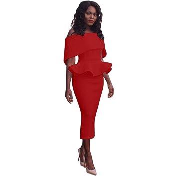 c109ba804ea4c Women Dress Daoroka Ladies Sexy Off Shoulder Plus Size Work Office Pencil  Bodycon Casual...