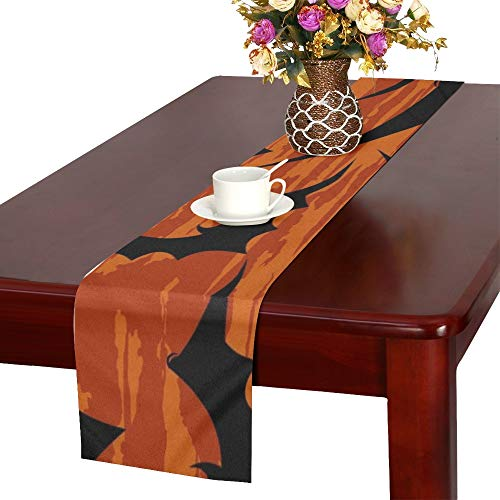 Halloween Wallpaper Table Runner, Kitchen Dining Table Runner 16 X 72 Inch for Dinner Parties, Events, Decor