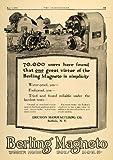 1918 Ad Berling Magneto Engine Ericsson Farm Tractor - Original Print Ad
