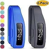 KIMILAR Clip Holder kompatibel med Fitbit Inspire/Inspire HR/Aec 2, (2-pack) stötsäker mjuk silikon ett stycke…