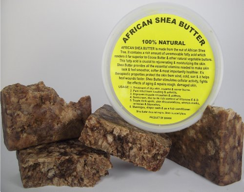 Raw African Ivory Shea Butter And Black Soap From Ghana Combo 8oz. Each by Natural Cosmetics
