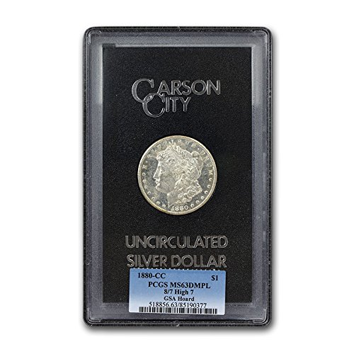 1880 CC 8/7 High 7 Morgan Dollar MS-63 PCGS (GSA,DMPL) $1 MS-63 PCGS