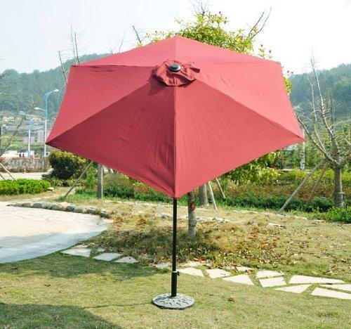 Outsunny Outdoor Aluminum Patio Market Umbrella with Tilt, 9