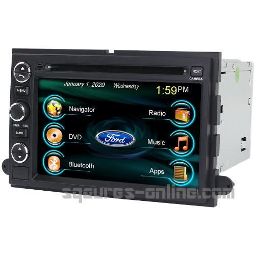 Expedition Deck (2006-2010 Ford Explorer 2007-2011 Ford Sport Trac 2007-2012 Ford Expedition In-dash DVD GPS Navigation Stereo Bluetooth Hands-free Steering Wheel Controls Touch Screen iPod iPhone-Ready Deck AV Receiver CD Player Video Audio NAVI Radio Square-S SS-9080FX w/ Digital TV Rear View Camera Option OEM Replacement)