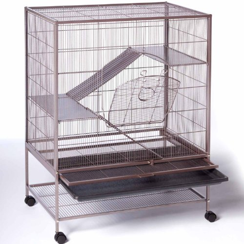 51pCeApZPlL Prevue Pet Products Rat and Chinchilla Cage 495 Earthtone Dusted Rose, 31-Inch by 20-1/2-Inch by 40-Inch