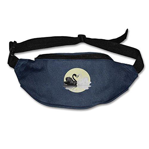 Xxh Fanny Pack Waist Black White Swan For Love Sport Bag For Outdoors Workout -