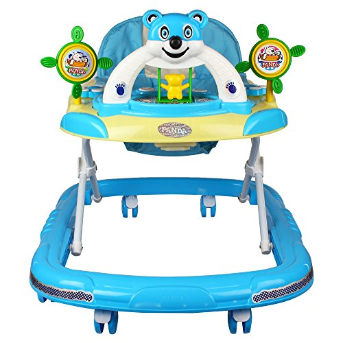Goyal's Baby Musical Walker - Foldable & Height Adjustable - Blue