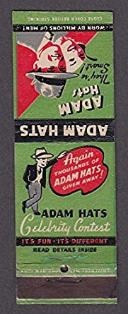 Adam Hats Celebrity Contest Who Is He  Matchcover at Amazon s ... 25fd2179966