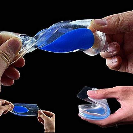 Kuou 2 paires de coussinets orthop/édiques transparents en gel pour talons de 1,7 cm