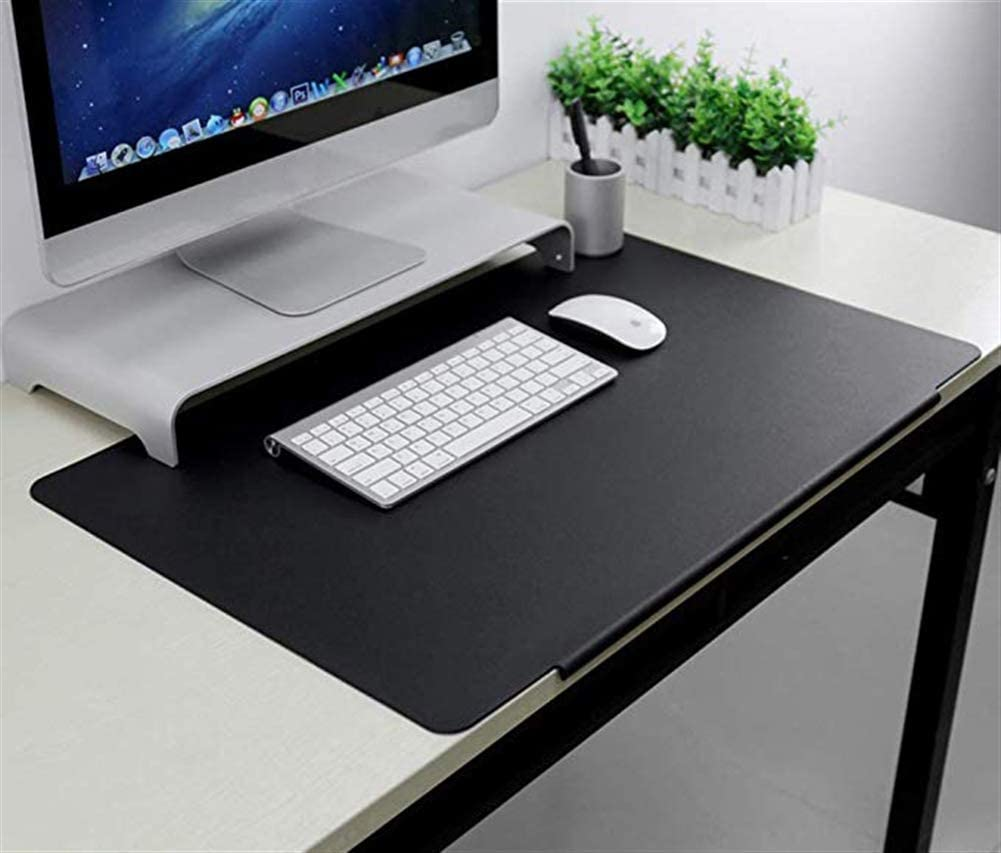 Computer Keyboard Edge-Locked Non-Slip Mouse Mat for Desk Cover SK Studio Large Office Desk Pad Waterproof PU Leather Mouse Pad PC and Laptop Coffee 31.49x15.75