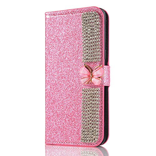 Elaco Wallet Making Leather Card Magnetic Case Cover for Samsung Galaxy S8 5.8inch/S8 Plus 6.2inch