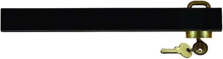 Invincible BR52612 EDC Coated Steel Outboard Motor Key Lock, Black Finish
