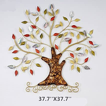 Amazon.com: lianxi industrial and trade Metal Tree Wall Art Generous ...