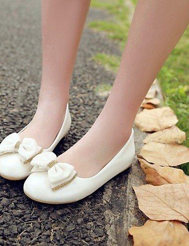 Blue us5 Cn35 Uk3 Redonda Zapatos Pdx De Talón 5 blanco Azul Casual Mujer 5 rosa de Eu36 Sintética Punta Piel Flats Plano ZB11a