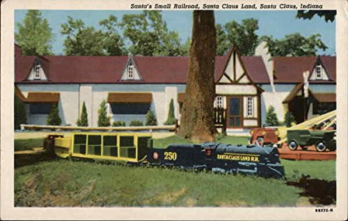 Santa's Small Railroad, Santa Claus Land Santa Claus, Indiana Original Vintage Postcard