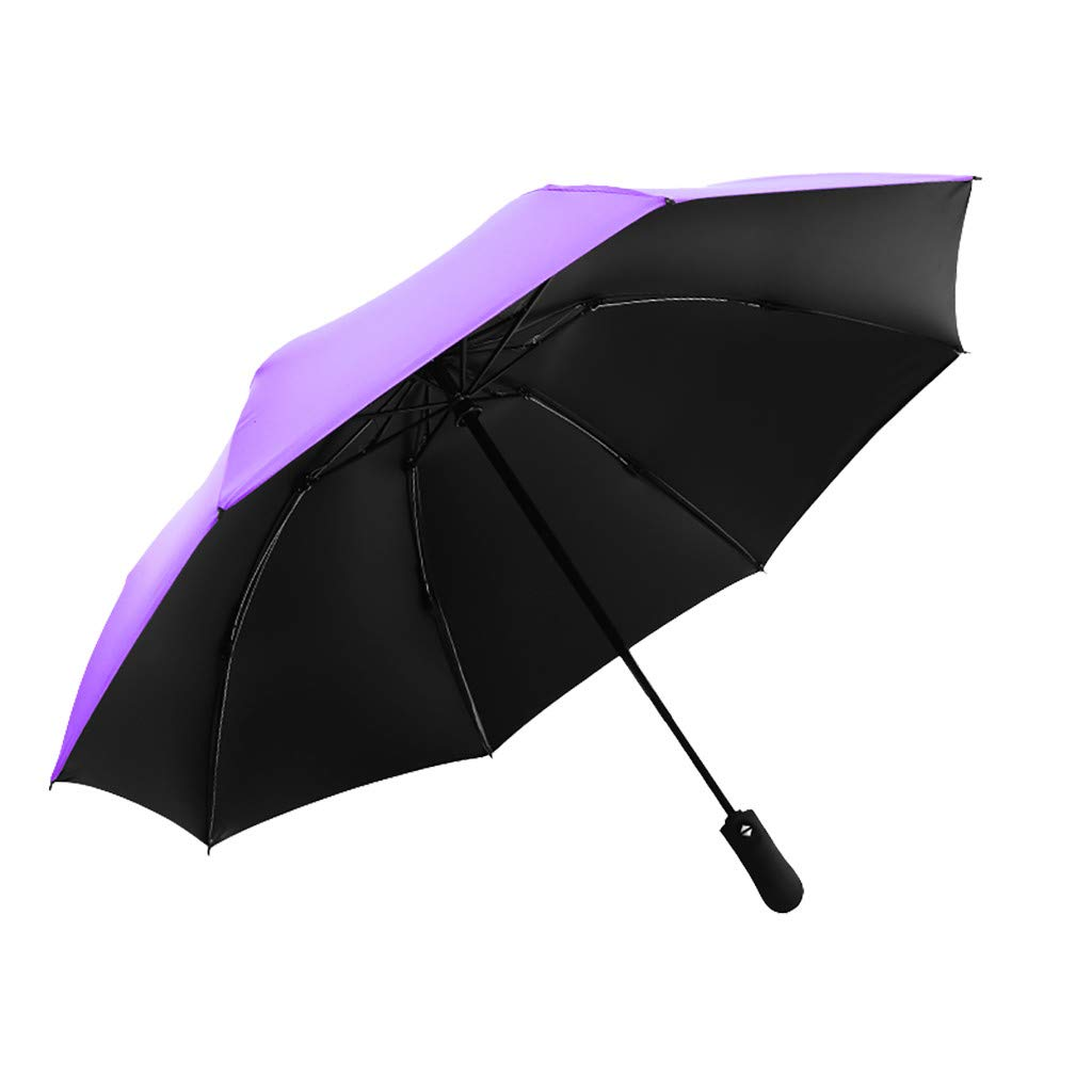 IEasⓄn_Rain Gear, Sun&Rain Car Umbrella Windproof Travel UV Umbrella Women Men - Auto Open Close Folding Umbrella Upgrade